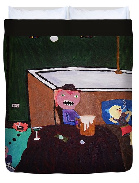 Creatures Of The Night Duvet Cover by Bamhs Blair