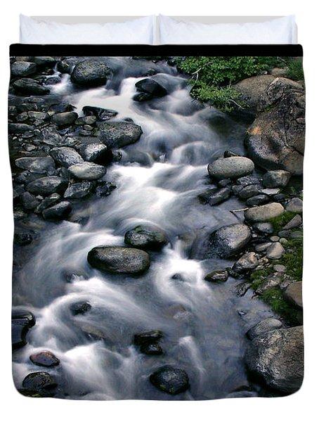 Creek Flow Polyptych Duvet Cover by Peter Piatt
