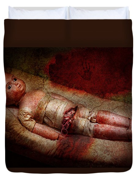 Creepy - Weird - No One Ever Suspected  Duvet Cover by Mike Savad