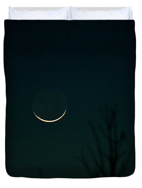 Crescent Moon Duvet Cover by Jessica Brown