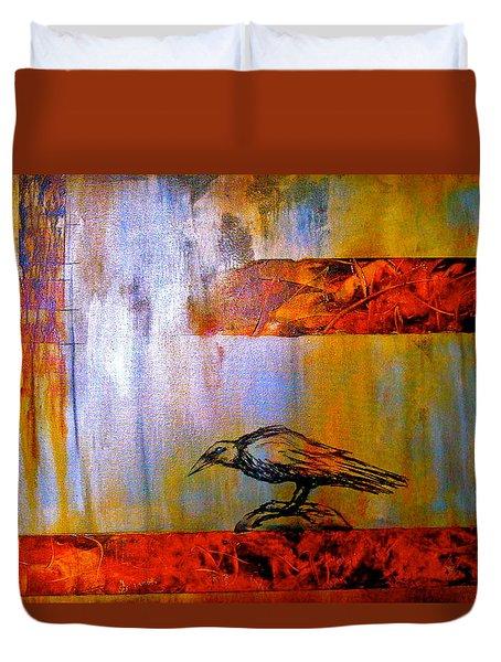 Cria Cuervos Duvet Cover by Thelma Zambrano