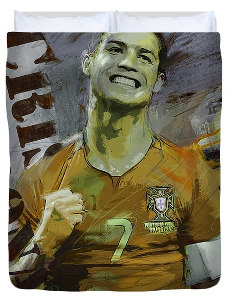 Cristiano Ronaldo Duvet Cover by Corporate Art Task Force