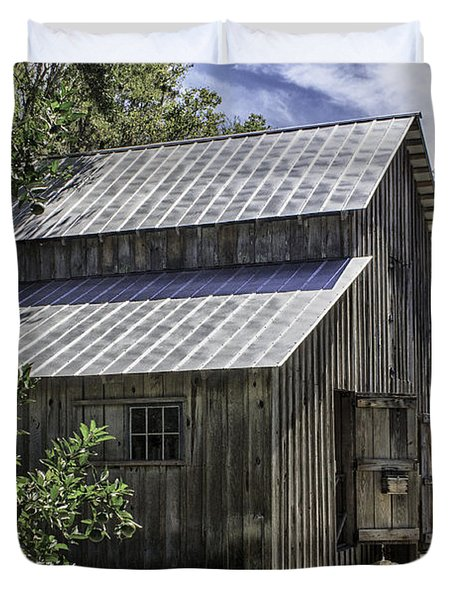 Cross Creek Barn Duvet Cover by Lynn Palmer