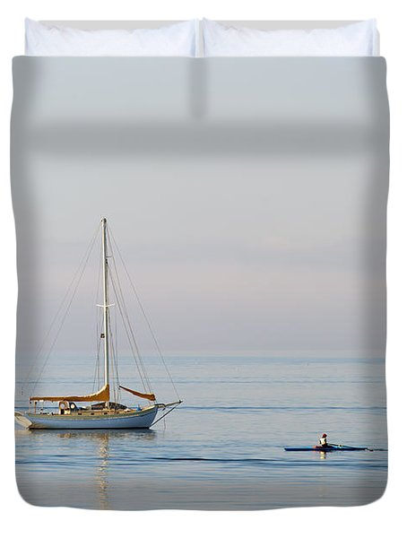 Crossing Paths Duvet Cover by Mike  Dawson