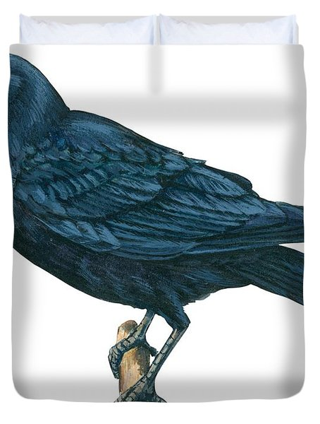 Crow Duvet Cover by Anonymous