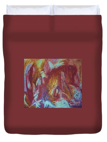 Crowman Duvet Cover by Ann Fellows