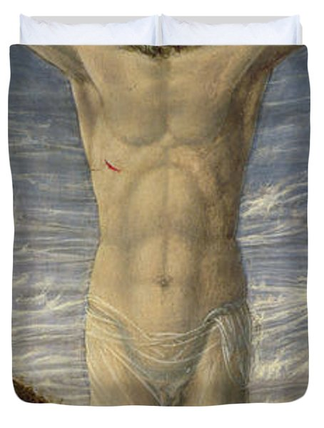 Crucifixion  Duvet Cover by Master of the Barberini Panels