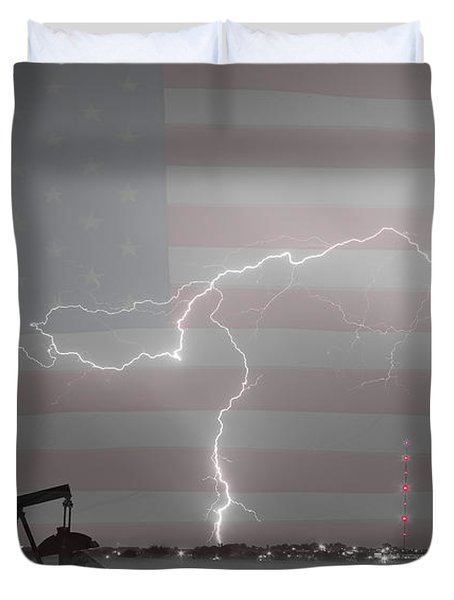 Crude Oil and Natural Gas Striking Across America BWSC Duvet Cover by James BO  Insogna