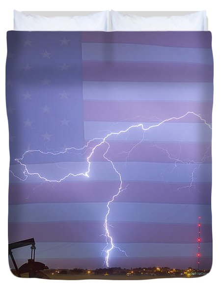 Crude Oil And Natural Gas Striking Across America Duvet Cover by James BO  Insogna