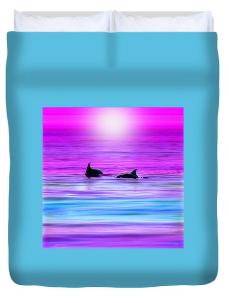 Cruisin' Together Duvet Cover by Holly Kempe