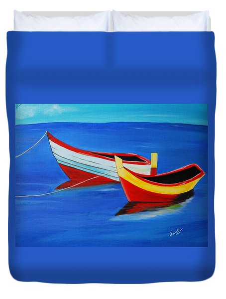 Cruising On A Bright Sunny Day Duvet Cover by Sonali Kukreja
