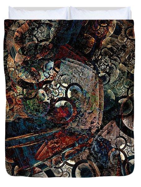 Crushed Spirals Duvet Cover by Klara Acel