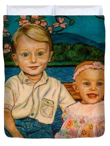 Crystal's Children Duvet Cover by Kendall Kessler