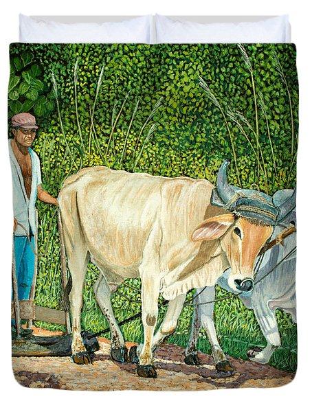 Cuban Countryman Duvet Cover by Manuel Lopez