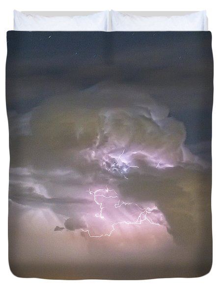 Cumulonimbus Cloud Explosion Portrait Duvet Cover by James BO  Insogna