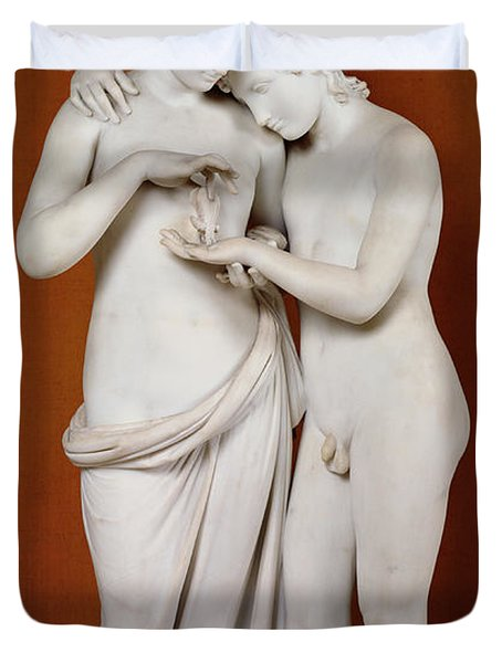 Cupid And Psyche Duvet Cover by Antonio Canova