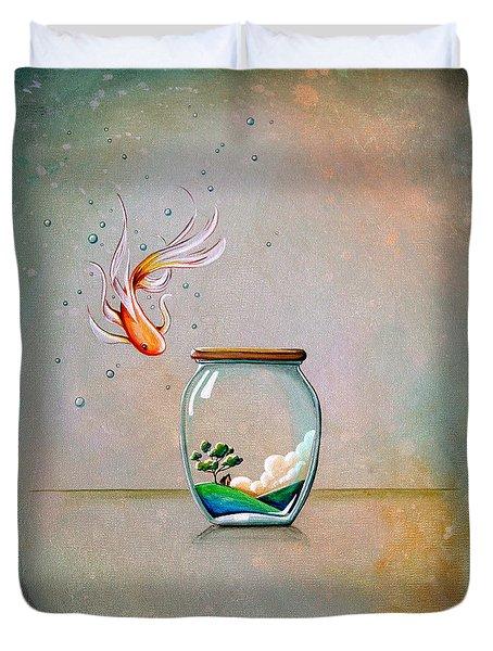 Curiosity Duvet Cover by Cindy Thornton