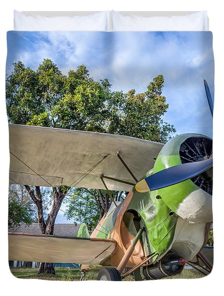 Curtiss Hawk IIi  Duvet Cover by Adrian Evans