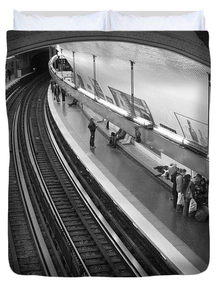 Curve Duvet Cover by Sebastian Musial