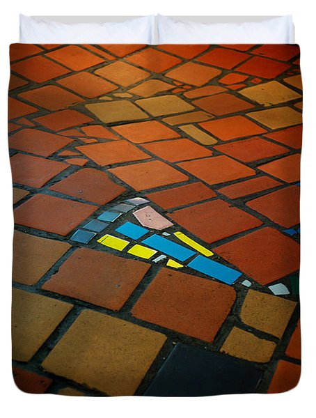 Curvy Floor Duvet Cover by Ivan Slosar