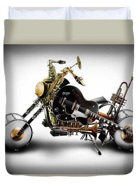 Custom Band II Duvet Cover by Alessandro Della Pietra