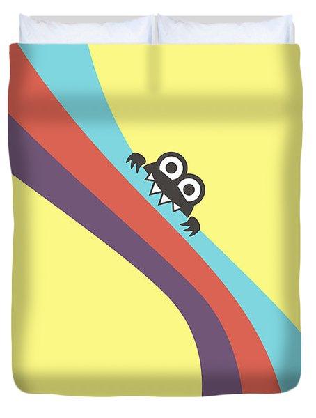 Cute Bug Bites Candy Colored Stripes Duvet Cover by Boriana Giormova