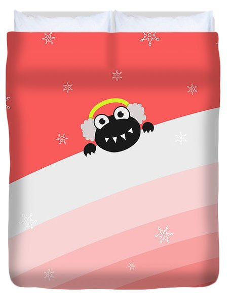 Cute Bug With Earflaps Duvet Cover by Boriana Giormova