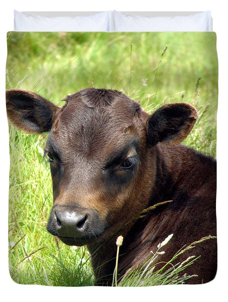 Cute Cow Duvet Cover by Terri Waters