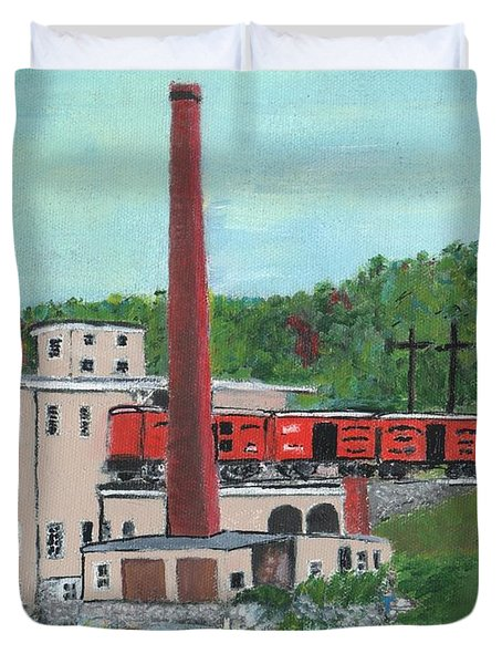Cutler's Mill - Circa 1870 Duvet Cover by Cliff Wilson