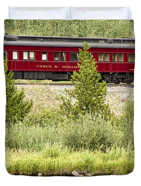Cyrus K  Holliday Private Rail Car Duvet Cover by James BO  Insogna