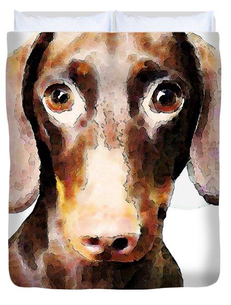 Dachshund Art - Roxie Doxie Duvet Cover by Sharon Cummings