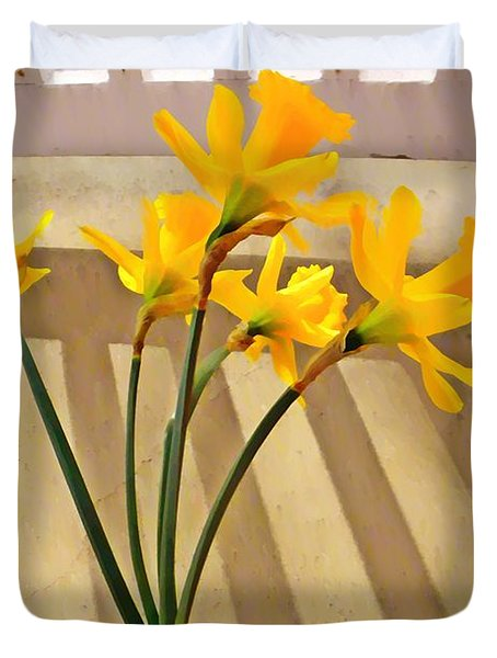 Daffodil Boquet Duvet Cover by Chris Berry
