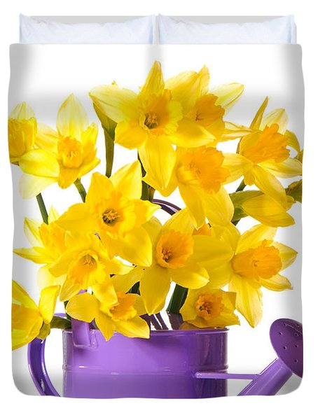 Daffodil Display Duvet Cover by Amanda And Christopher Elwell