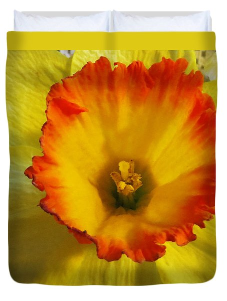 Daffodil Sunset Duvet Cover by Shawna Rowe