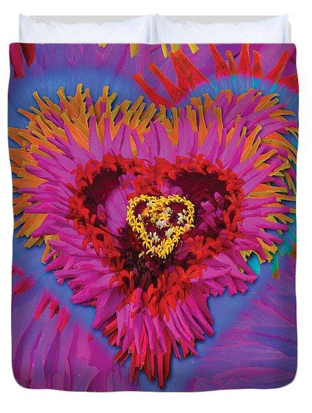 Dahlia Rainbow Duvet Cover by Alixandra Mullins