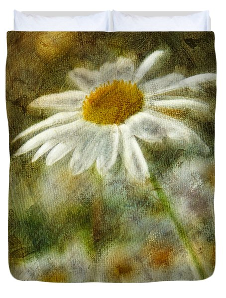 Daisies ... again - p11at01 Duvet Cover by Variance Collections