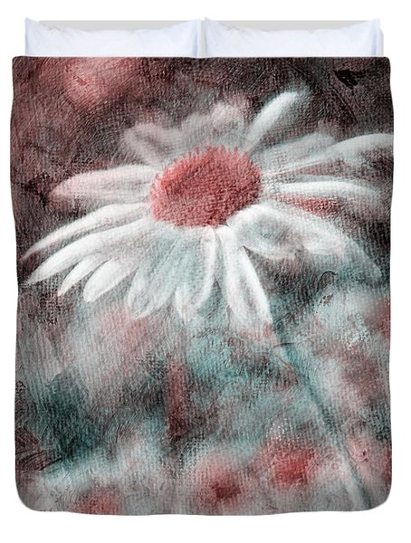 Daisies ... again - p11ac2t1 Duvet Cover by Variance Collections