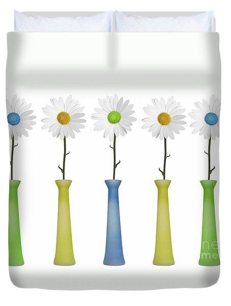Daisies Duvet Cover by Diane Diederich