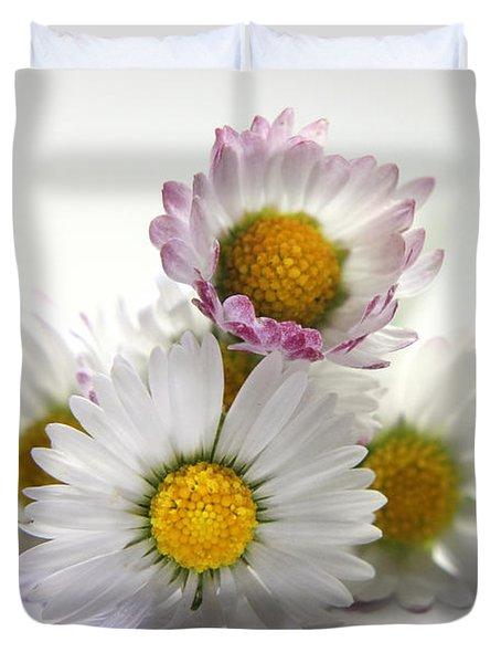 Daisies Duvet Cover by Terri Waters
