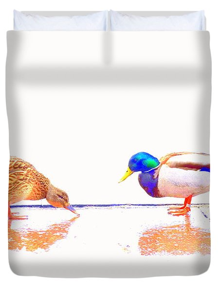 Daisy and you Duvet Cover by Hilde Widerberg