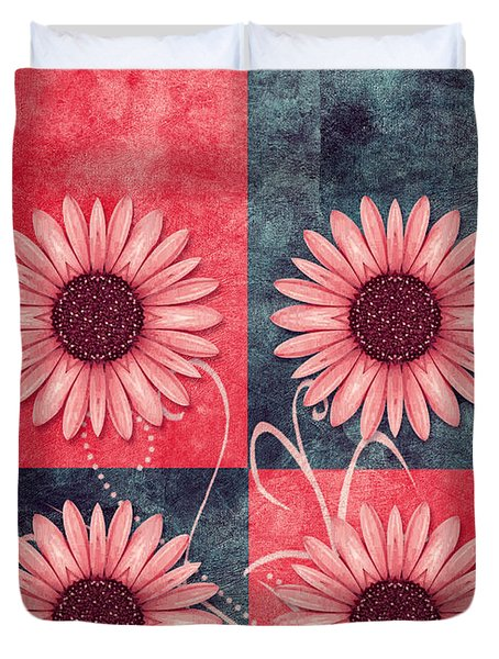 Daisy Quatro V13b Duvet Cover by Variance Collections