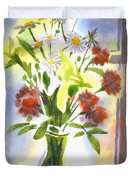Daisy Supreme Duvet Cover by Kip DeVore