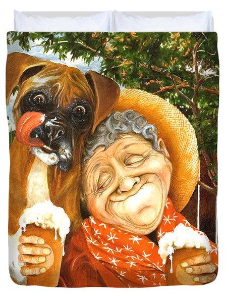 Daisy's Mocha Latte Duvet Cover by Shelly Wilkerson