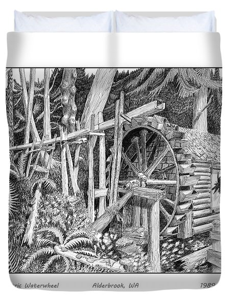 Dalby Waterwheel Hood Canal W A Duvet Cover by Jack Pumphrey