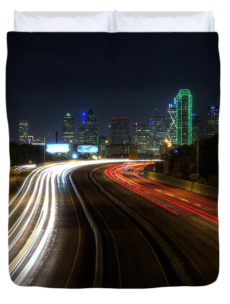Dallas Night Light Duvet Cover by Jonathan Davison