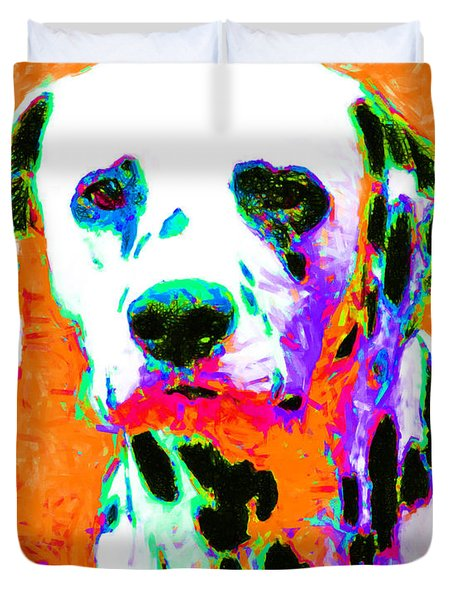 Dalmation Dog 20130125v2 Duvet Cover by Wingsdomain Art and Photography