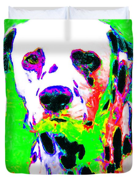 Dalmation Dog 20130125v3 Duvet Cover by Wingsdomain Art and Photography