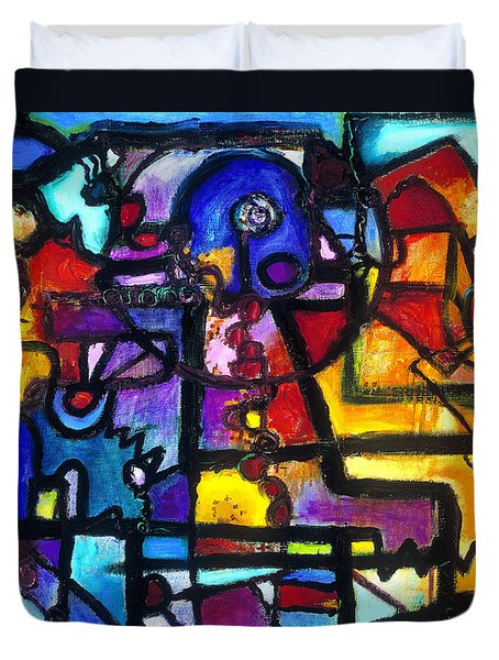 Dance Of The Gauge Bosons In Vacuum Duvet Cover by Regina Valluzzi