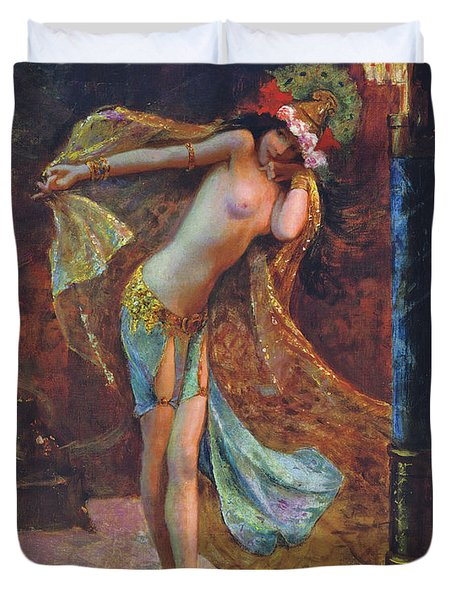 Dance of the Veils Duvet Cover by Gaston Bussiere