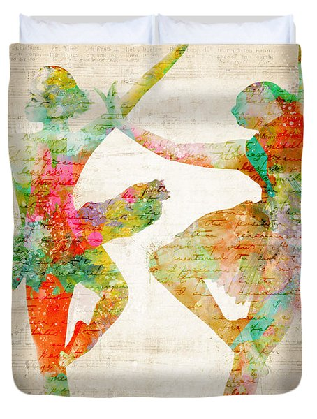 Dance With Me Duvet Cover by Nikki Marie Smith